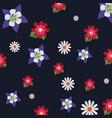 beautiful flowers pattern design vector image vector image
