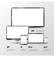 Blank TV screen lcd monitor notebook tablet vector image vector image