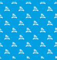 brazil palm pattern seamless blue vector image vector image