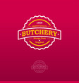 butchery vintage logo vector image