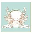 card with a bouquet of flowers and congratulation vector image vector image