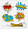 cartoon comic sound effects set3 vector image vector image