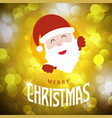 christmas card with golden background and santa vector image