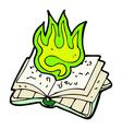 comic cartoon magic spell book vector image vector image
