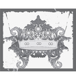 crown with baroque floral vector image vector image