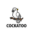 Cute cockatoo cartoon logo icon