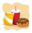 delicious fast food menu vector image vector image