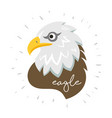 eagle head fly logo icon cartoon tattoo vector image
