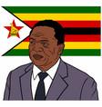 emmerson mnangagwa the president of zimbabwe vector image vector image