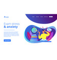 exams and tests concept landing page vector image vector image
