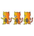 explainer cat character design vector image