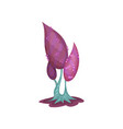 fairytale tree with violet foliage fantasy nature vector image vector image