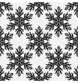 Falling snow seamless pattern Black vector image vector image