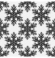 Falling snow seamless pattern Black vector image