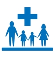 family medical sign vector image vector image