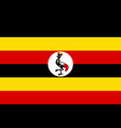 flag of uganda official colors and proportions vector image