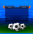 football sports chart design background vector image vector image
