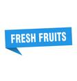 fresh fruits speech bubble fresh fruits ribbon vector image vector image