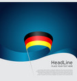 germany flag background wavy ribbon in colors of vector image vector image