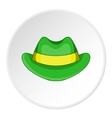 Green hat icon cartoon style vector image vector image