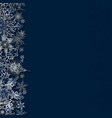 greeting card with snowflakes vector image