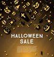 Halloween sale banner with pumpkin vector image vector image