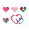 happy valentines day heart shape concept design vector image vector image