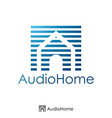 initial letter a and house logo concept logo vector image
