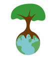 isolated tree on earth vector image