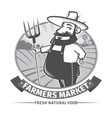 label with farmer vector image vector image