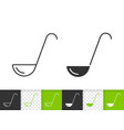 ladle simple black line icon vector image vector image