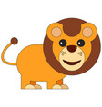 lion in cartoon flat style vector image vector image