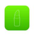lipstick icon green vector image