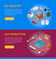 oil industry and energy resource banner horizontal vector image vector image