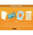 Pay Bills Online vector image vector image