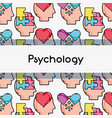psychology treatment analysis background design vector image