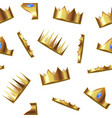 realistic detailed 3d golden crown seamless vector image