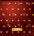 red background with golden polka dots vector image vector image