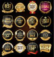 retro vintage black badges and labels collection 2 vector image vector image