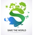 save world - nature and ecology background vector image vector image