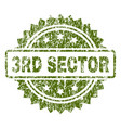 scratched textured 3rd sector stamp seal vector image vector image