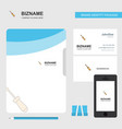 screw driver business logo file cover visiting vector image vector image