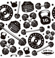 seamless pattern for gym club vector image vector image