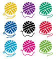 set yarn ball icons vector image vector image