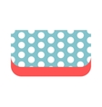 Summer bag clutch icon isolated on white vector image vector image