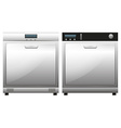 Two machines for dish washing vector image vector image