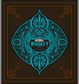 art-deco whiskey card vector image
