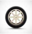 Isolated Car Wheel vector image