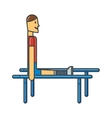 Gymnastics with man at parallel bars sport female vector image