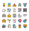 hotel and travel colored icons set 2 vector image